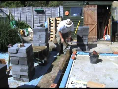 Building a blockwork corner