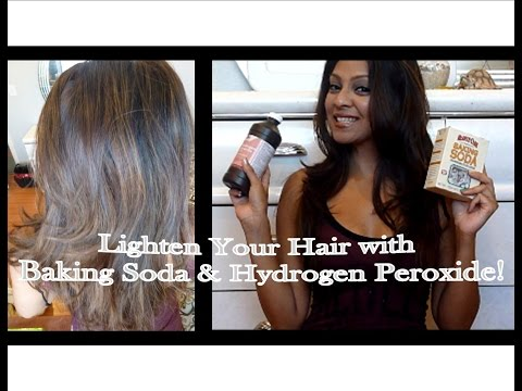 Lighten Your Hair with Baking Soda and Hydrogen Peroxide!