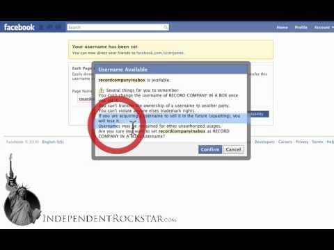 Change to a Custom Facebook Fan Page URL