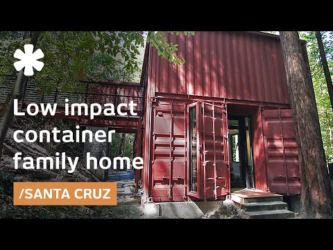 Shipping container family home: building blocks in Redwoods