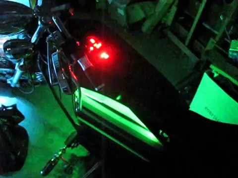 My RGB LED lighting system for the 72 volt electric motorcycle