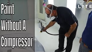 Painting A Car With A Turbine HVLP Electric Sprayer