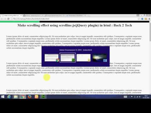[Hindi] How to Make effective scrolling effect in html using jquery