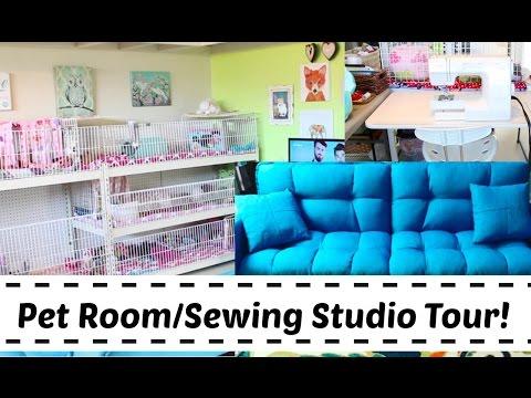 2017 Pet Room/Sewing Studio Tour!