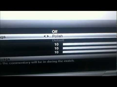 How to Change The Fifa 12 Commentary Language (ps3)