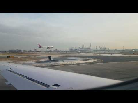 Taking off from terminal A at Newark airport. 1-11-18