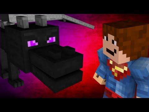 Superman VS Enderdragon - Minecraft Mob Battle! (1.7 Mod)