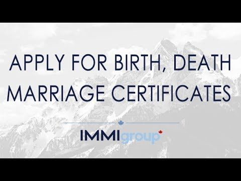 APPLY FOR BIRTH, DEATH, MARRIAGE CERTIFICATES - UPDATED