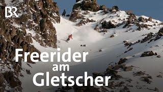 Skifahren im Gelände: Dieser Freerider ist auf dem Gletscher daheim | Wir in Bayern | BR