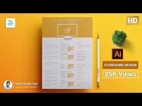 ✪ How to Create a CV/RESUME Template in illustrator : illustrator Tutorial ✪
