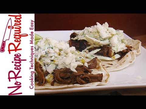 Braised Brisket Tacos & Slaw - NoRecipeRequired.com