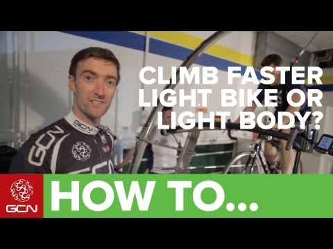 How To Climb Faster - Light Bike Or Light Body?