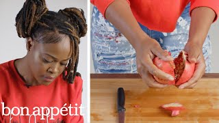 50 People Try to Deseed a Pomegranate   Basic Skills Challenge   Bon Appétit