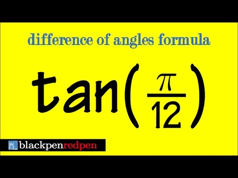 tan(pi/12), using difference of angles formula