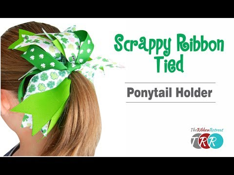 How to Make a Scrappy Ribbon Ponytail Holder - TheRibbonRetreat.com