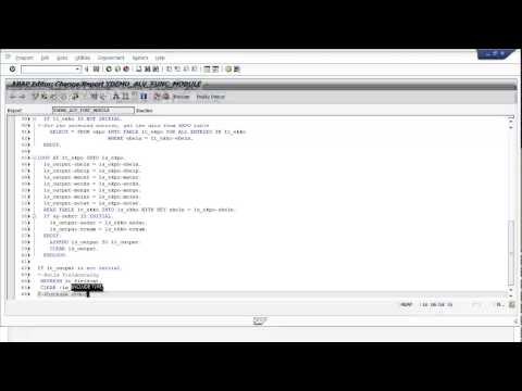 How to Create ALV with Function Module? | Free SAP ABAP Training Video - Part 1