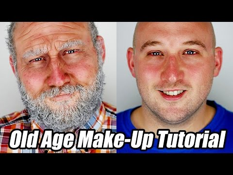 Old Age Makeup Tutorial without Prosthetics or Latex