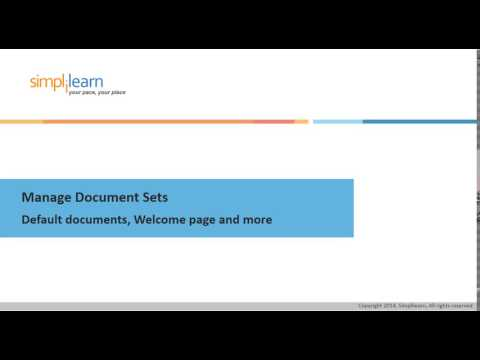 SharePoint 2013 Manage Document Sets Default documents, Welcome page and more