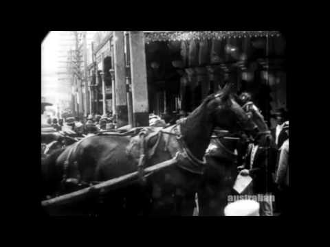 Mar. 9, 1907 - Views of downtown Perth, Australia (restored w/ added sound)
