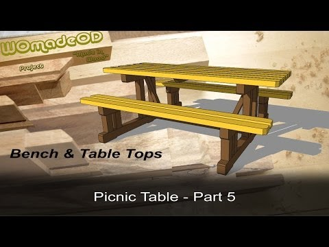 Build a Solid Picnic Table - Bench and Table Tops