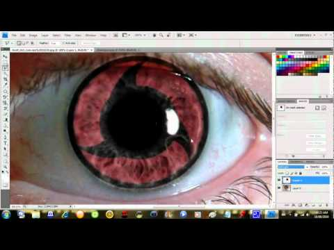 How to Make sharingan eyes using adobe photoshop cs5 maroc