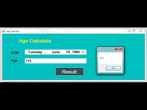 C# Code for Age Calculate using Datetimepicker and TextBox in .net
