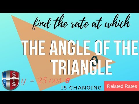 Calculus - Related Rates - Sliding Ladder - Triangle Angle Analytics