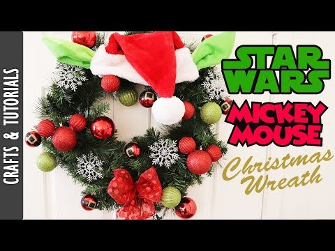 Star Wars/ Mickey Mouse Inspired Christmas Wreath - The290ss