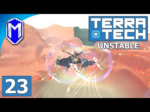 TerraTech - Building An Attack Helicopter And Plane - Lets Play TerraTech Unstable Gameplay Ep 23