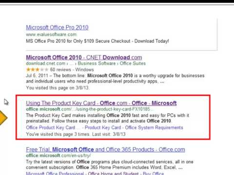 How To Recover Microsoft Office 2010 Product Key
