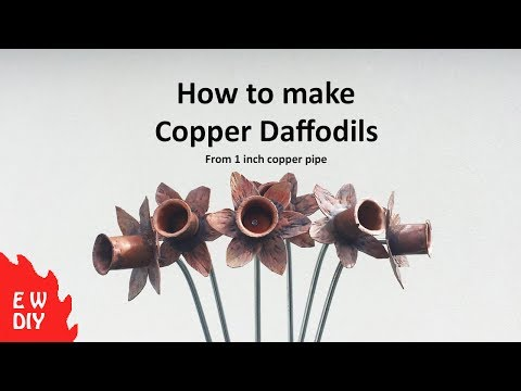 How to make Copper Daffodils DIY