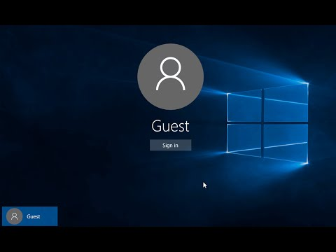 Create a Guest User Account In Windows 10