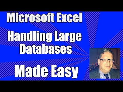 Excel Database Part 1 - How to Use Excel as a database - Excel 2010, 2013, 2016 database tutorial