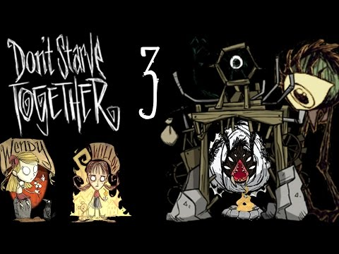 [Lets Play] Don't Starve Together: Part 4- Attack of the Hounds!!! With Michelle!