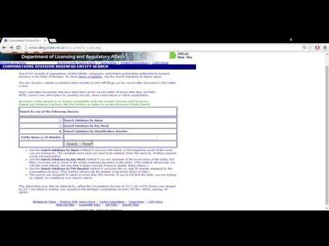 Michigan Business Entity Search | Corporation | LLC | Partnerships