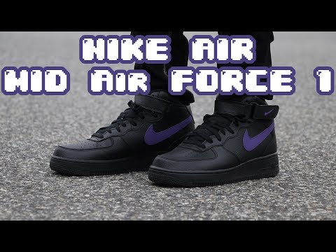 Nike Air Force 1 Mid Review + On Feet (Black/Purple 3M)