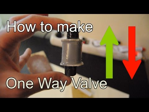 DIY | How to Make Check Valve using a PVC Pipe (One Way Valve)