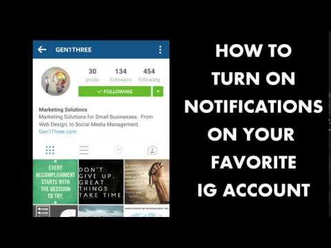 How to Turn on Instagram Notifications