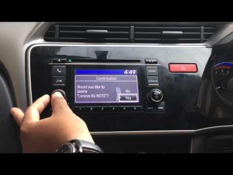 How to delete a Bluetooth device from Honda city/jazz Infotainment system