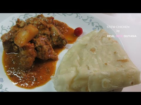 Stew Chicken, step by step Video Recipe II Real Nice Guyana  (HD)