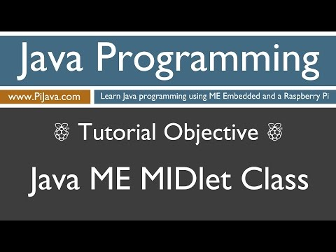 Java Programming on Raspberry Pi - Java ME MIDlet class