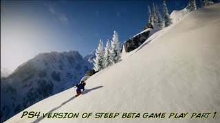 Steep Ps4 Gameplay & Walkthrough Version Of Steep Snowboarding Simulator Ubisoft Hang Gliding