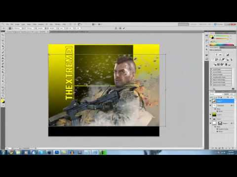 Photoshop CS5 - How to Make a Youtube Background