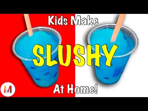 Kids Make Slushy Iced Cold Summer Drinks At Home