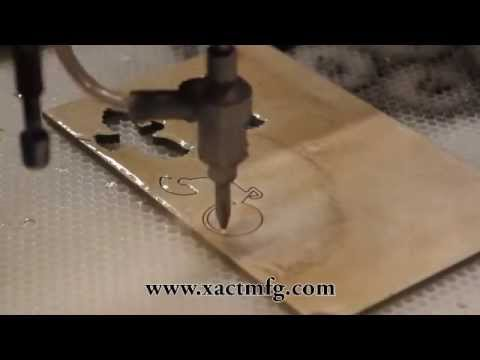 Water Jet Cutting Ceramic Tile Demo