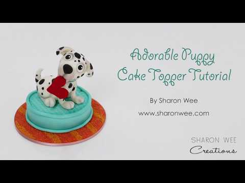 How to make a puppy cake topper - perfect for Valentines Day!