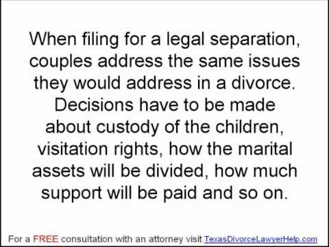 Texas Divorce Lawyers: Legal Separation and Divorce Part 1