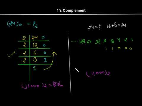 1's Complement Representation Of Binary & Decimal In Hindi - By Nirbhay Kaushik