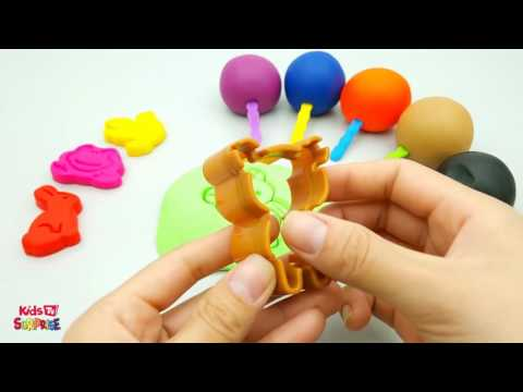 Learn colors Play Doh Lollipops Butterfly Bird Animal Popsicle Molds Fun & Creative for Kids