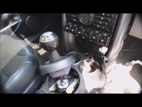 MINI Cooper S Shifter Squeak FIX / How To Access Shift Linkage Location